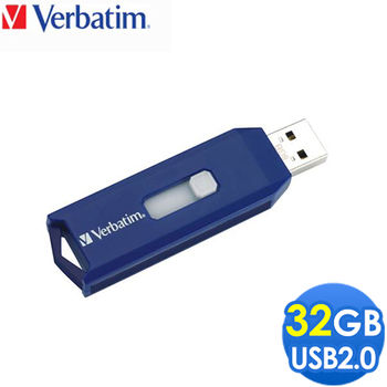 Verbatim 威寶 32G Retractable 伸縮隨身碟 藍色