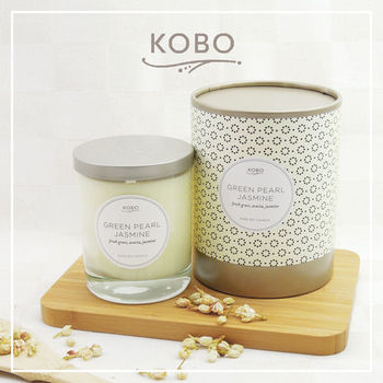 【KOBO】美國大豆精油蠟燭 - 茉莉抺茶 (330g/可燃燒80hr)