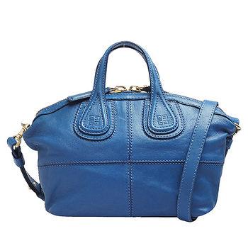 GIVENCHY NIGHTINGALE MICRO羔羊皮手提/肩背二用包(迷你-天空藍)BB05044002-420-BLUE