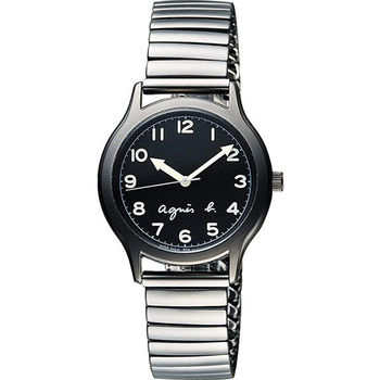 agnes b. 25周年紀念復刻經典腕錶-黑x灰  VJ21-KR00D(BH8018X1)
