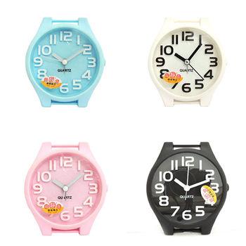 【無敵王】糖果色手錶造型立體數字鬧鐘SV-1314