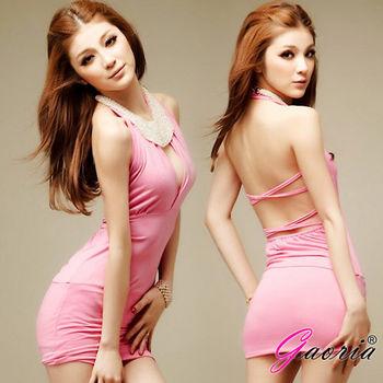 【Gaoria】名媛甜心-掛脖緊身露背 夜店裝 連衣性感情趣睡衣