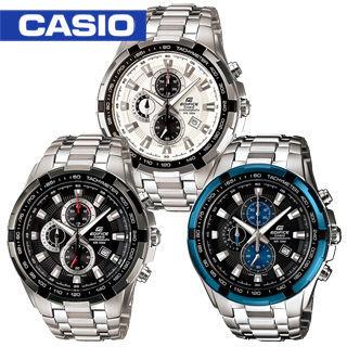 【CASIO 卡西歐 EDIFICE 系列】高速美學競速三眼賽車男錶(EF-539D)