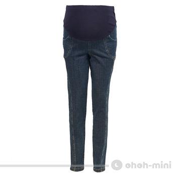 【ohoh-mini】嬌俏美臀顯瘦孕婦窄管牛仔褲