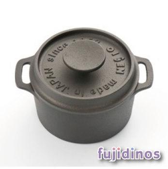 Fujidinos【及源鑄造】鑄鐵迷你烤鍋‧10cm圓型款