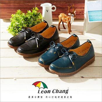 【Leon Chang】復古真皮休閒鞋