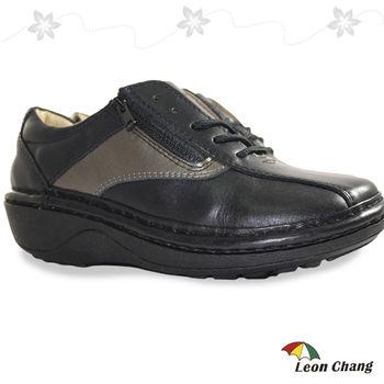 【Leon Chang】牛皮彩拼手工休閒氣墊鞋