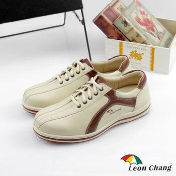 【Leon Chang】經典牛皮休閒鞋