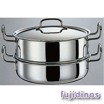 Fujidinos【日本geo鍋具】七層構造萬用無水鍋‧雙層蒸鍋25cm款