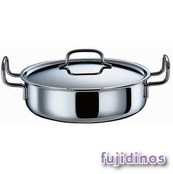 Fujidinos【日本geo鍋具】七層構造萬用無水鍋‧雙耳淺型25cm款