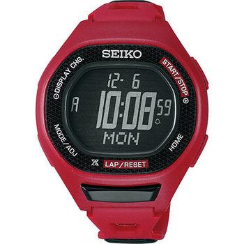 SEIKO PROSPEX Runner 運動玩家電子腕錶-紅 S611-00A0R(SBEG003J)
