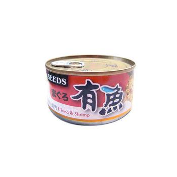 【SEEDS】聖萊西 有魚貓餐罐-鮪魚+蝦肉 170G x 48入