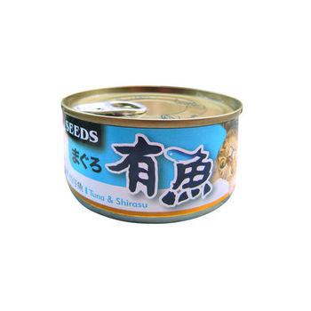 【SEEDS】聖萊西 有魚貓餐罐-鮪魚+吻仔魚 170G x 48入