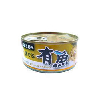 【SEEDS】聖萊西 有魚貓餐罐-鮪魚+小魚干 170G x 48入