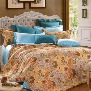 【Casa Aroma】貝緹莉 精梳棉/兩用被床包四件組/雙人標準(5X6.2尺)