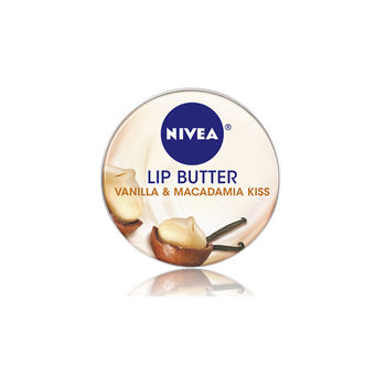 NIVEA 妮維雅 最新款 鐵罐裝 奶霜謢唇膏 (16.7g ) vanilla  macadamia kiss 澳洲香草堅果