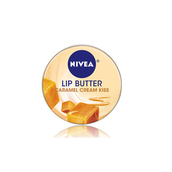 NIVEA 妮維雅 最新款 鐵罐裝 奶霜謢唇膏 (16.7g ) caramel cream kiss 焦糖霜