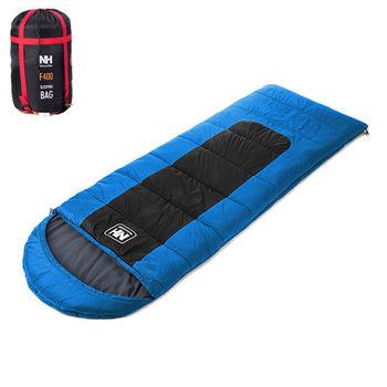 PUSH! 登山戶外用品 帶帽型睡袋四季空調被可拼接睡袋標准版F400