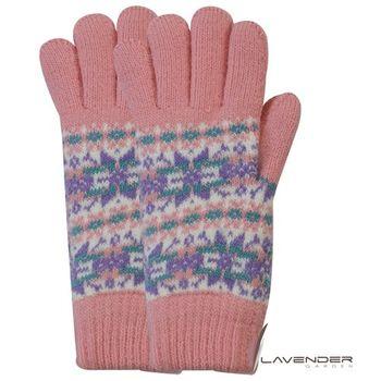 Lavender-閃耀雪花雙層手套-粉