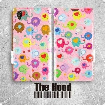 【The Hood】Sony Z3 皮套 - 可愛小象 (粉)