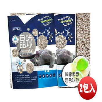 【SEEDS】惜時 奈米銀粒子 晶球貓砂 檸檬果香 混合球砂 X 2包入