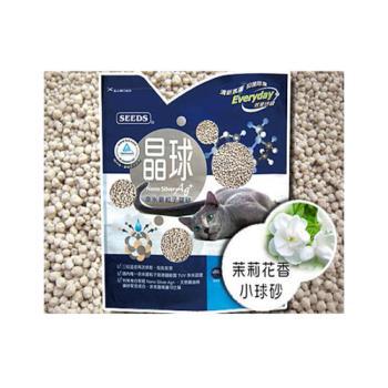 【SEEDS】惜時 奈米銀粒子 晶球貓砂 茉莉花香 小球砂 X 3包入