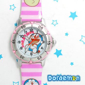 哆啦A夢 粉紅夢幻可愛膠錶(俏皮款)