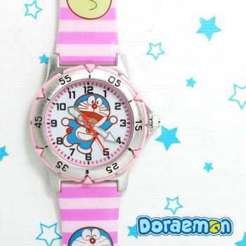 哆啦A夢 粉紅夢幻可愛膠錶(打招呼款)