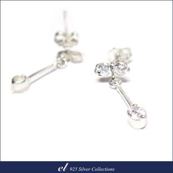 el 925銀飾 - 方晶鋯石耳環 Attraction