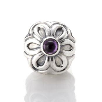 【PANDORA】潘朵拉 Purple Zinna Clip 固定扣 (790953AM)