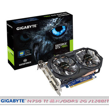 技嘉 GIGABYTE N75TOC-2GI 顯示卡 GeForce GTX 750Ti 2GB DDR5 128bit HDMI