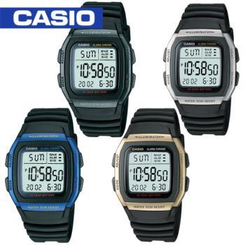 【CASIO 卡西歐】學生/青少年休閒運動錶(W-96H)