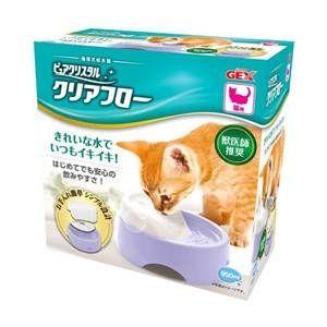 【GEX】 日本 愛貓圓滿平安 濾淨飲水皿 粉紫色 貓用 950ml X 1入