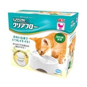 【GEX】日本 愛貓圓滿平安 濾淨飲水皿  淨白色 貓用 950ml X 1入