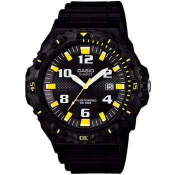 CASIO 太陽能魅力潛水風格運動腕錶(黑x黃刻度)MRW-S300H-1B3