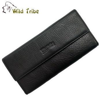 【Wild Tribe】三疊 真皮皮夾長夾(918)