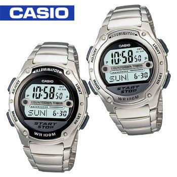 【CASIO 卡西歐】學生/當兵/運動員指定款運動錶(W-756D)