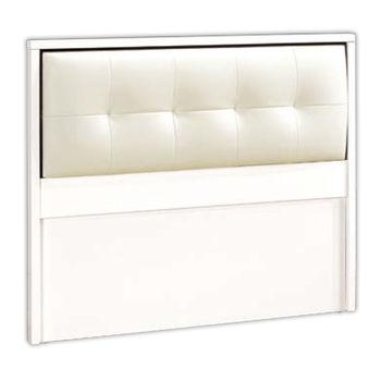 【顛覆設計】卡爾波白色3.5尺單人床頭片