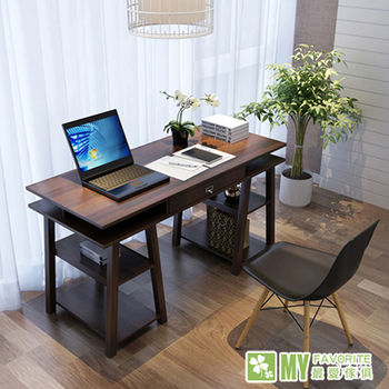 【最愛傢俱】大和電腦書桌(深胡桃色)-日式設計