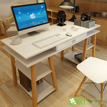 【最愛傢俱】大和電腦書桌(白色)-日式設計