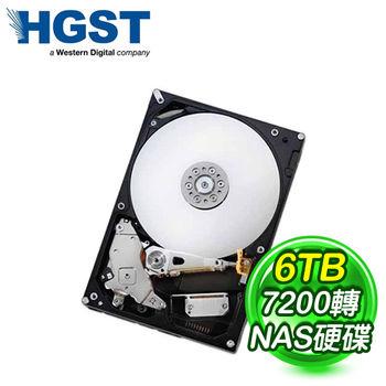 HGST 6TB 3.5吋 7200轉 128M快取 SATA3 NAS 硬碟(H3IKNAS600012872SA)