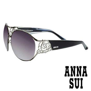 Anna Sui 日本安娜蘇 復古時尚金屬玫瑰精雕造型太陽眼鏡 AS 844-902