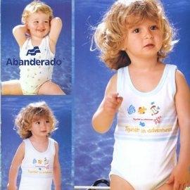 【西班牙 Abanderado】(a902)嬰兒連身衣背心熱帶魚(尺寸12/36)