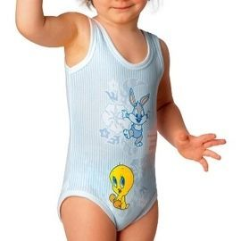【西班牙 Abanderado】(3998)嬰兒連身衣背心tweety+rabbit(尺寸12)