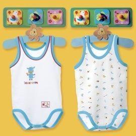 【西班牙 Abanderado】(9918)嬰兒連身衣背心 ice cream (二件組)-(尺寸12)
