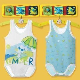 【西班牙 Abanderado】(9919)嬰兒連身衣背心summer (二件組)-(尺寸12)