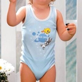 【西班牙 Abanderado】(3985)嬰兒連身衣背心-tweety(尺寸 12)