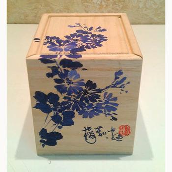 【青花皇后楊莉莉】手繪青花-普洱茶碗組(菊花)(五入)