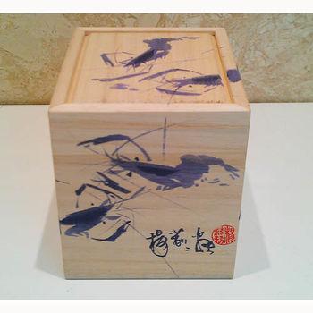 【青花皇后楊莉莉】手繪青花-普洱茶碗組(蝦子)(五入)