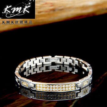 KMK鈦鍺精品【鳳凰】純鈦+晶鑽+磁鍺健康手鍊